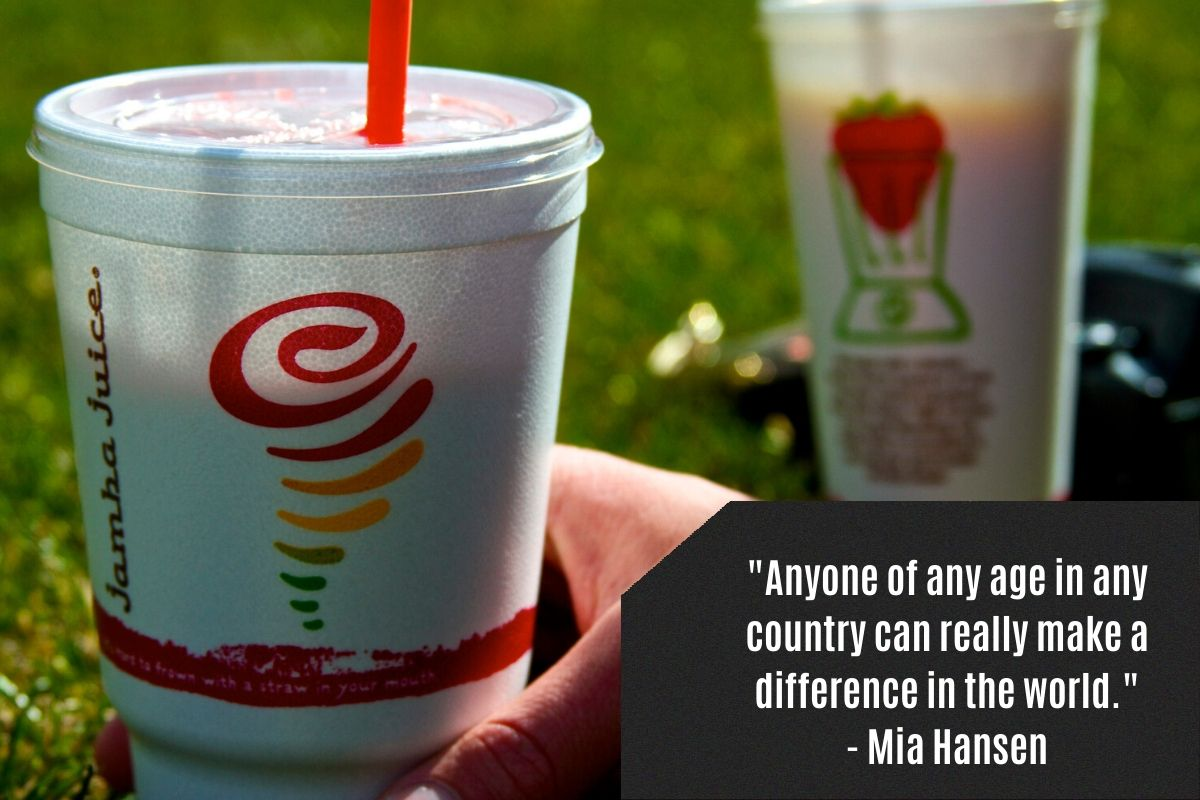Jamba Juice replaced their polystyrene cups